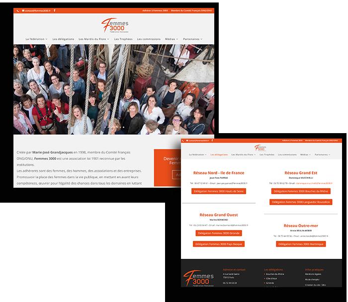 Site internet Femmes 3000